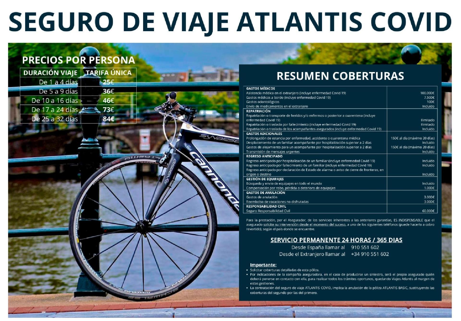 Seguro de Viaje ATLANTIS COVID