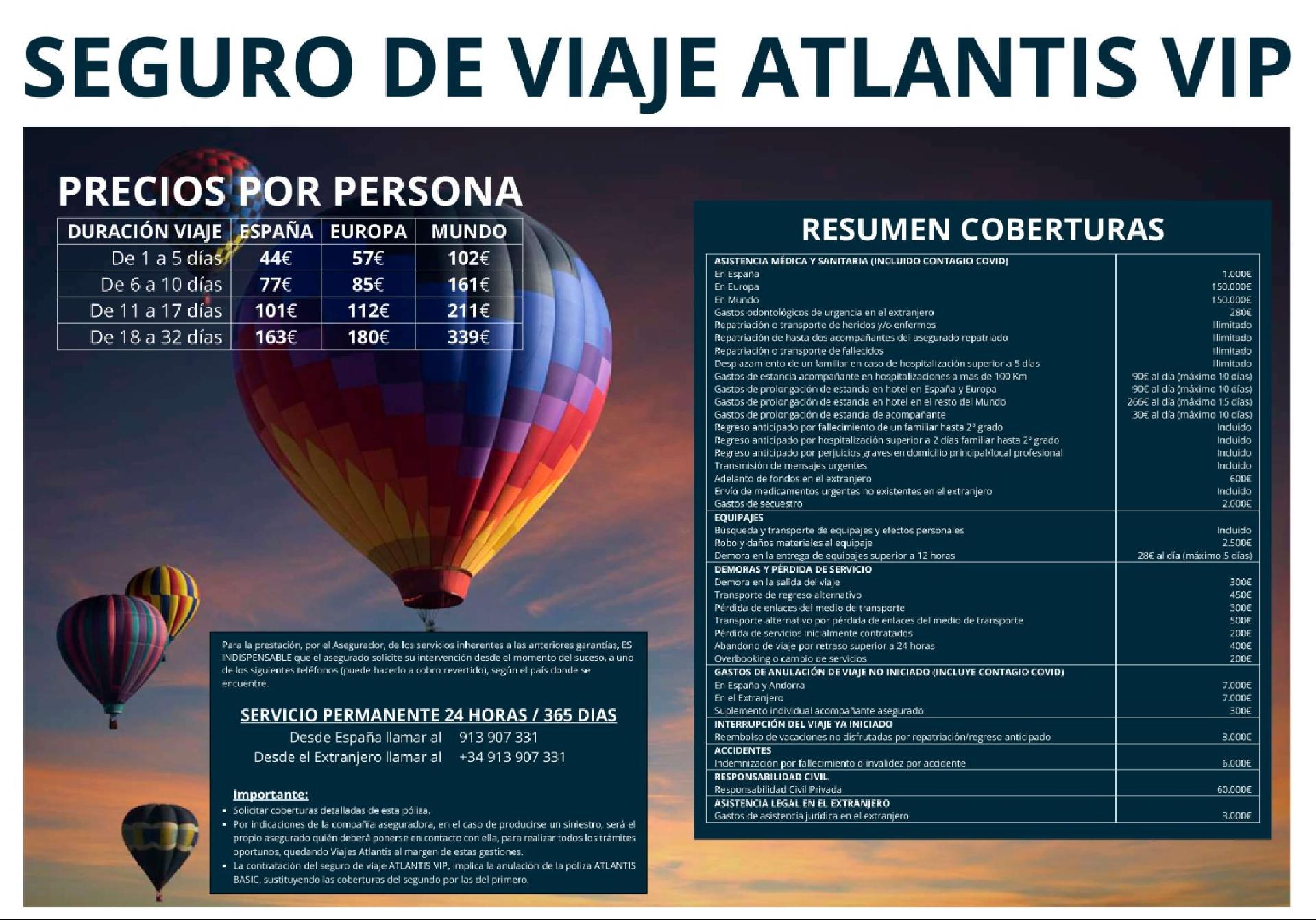 Seguro de Viaje ATLANTIS VIP