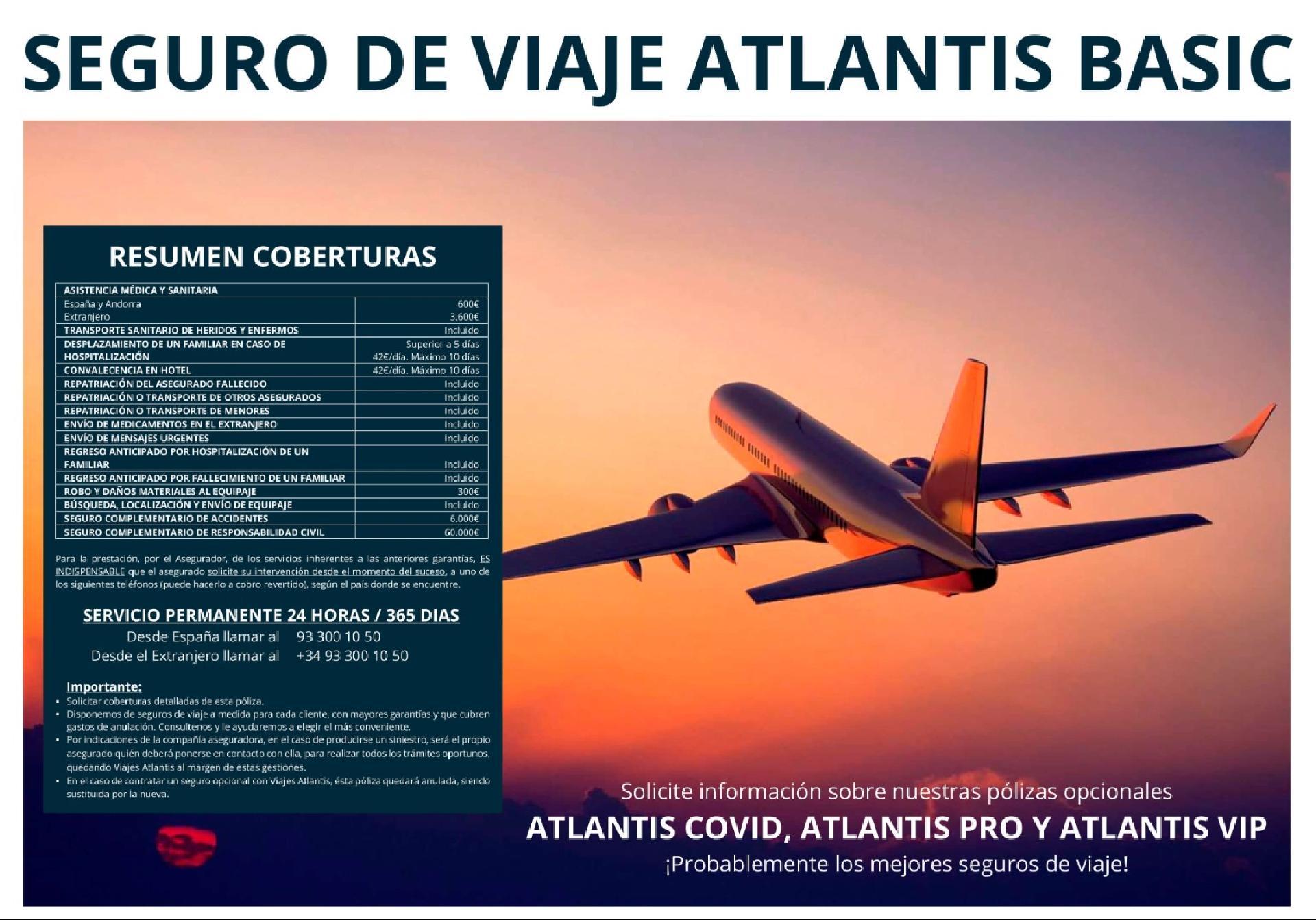 Seguro de Viaje ATLANTIS BASIC